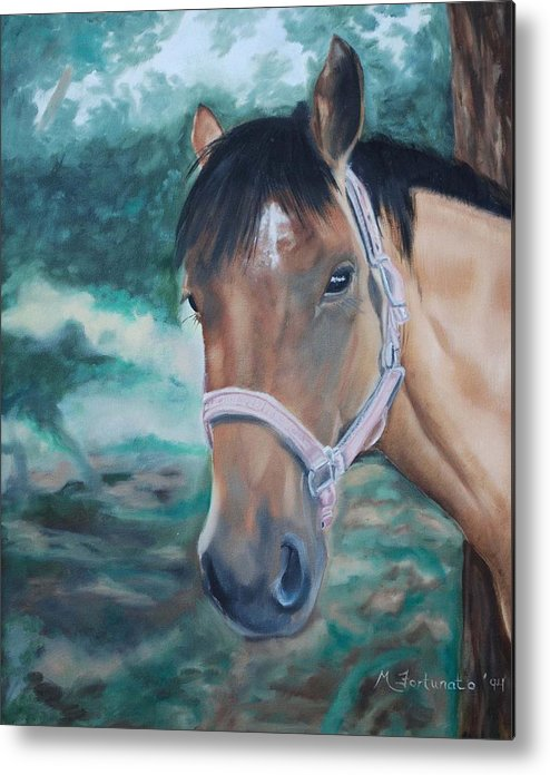 Horse Metal Print featuring the painting Rosie by Margaret Fortunato