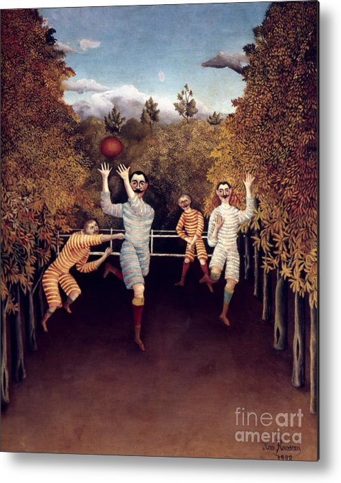 1908 Metal Print featuring the photograph Rousseau: Football, 1908 by Granger