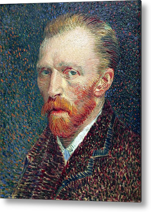 van Gogh Metal Print featuring the photograph Self Portrait Vincent Van Gogh by Daniel Hagerman