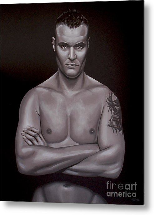 Semmy Schilt Metal Print featuring the painting Semmy Schilt by Paul Meijering