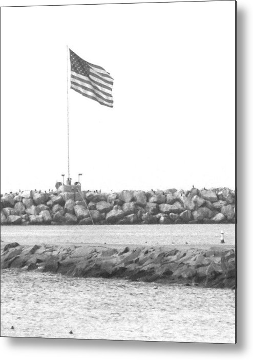 Flag Metal Print featuring the photograph Stands Alone by Shari Chavira