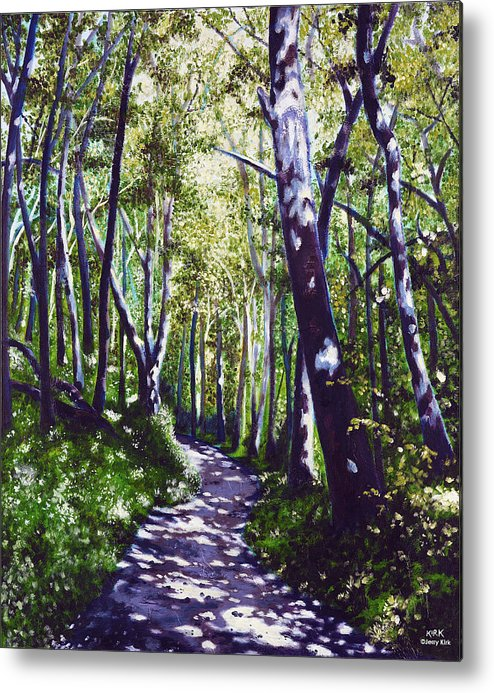 Painting Metal Print featuring the painting Summer Woods by Jerry Kirk