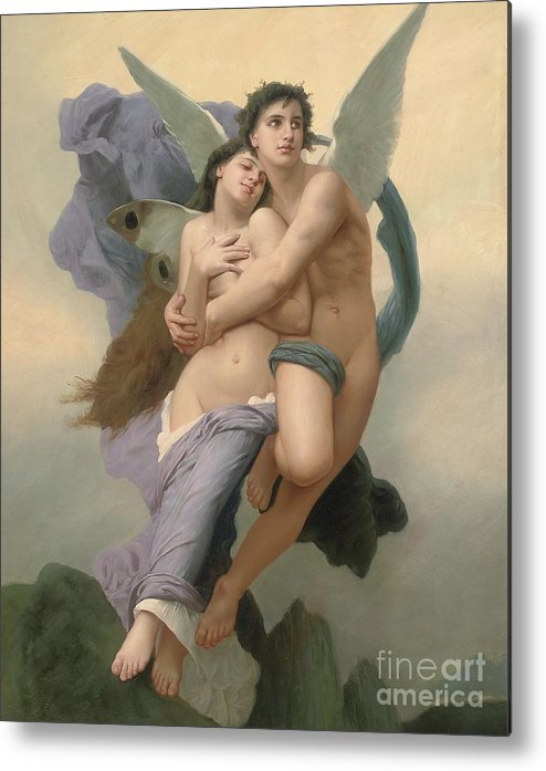 William-adolphe Bouguereau Metal Print featuring the painting The Abduction Of Psyche by William-Adolphe Bouguereau