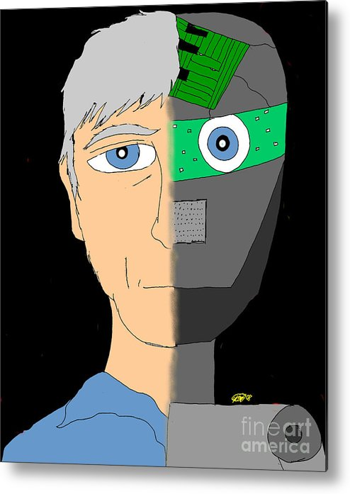 Man Metal Print featuring the digital art The Android- Douglas Kerrigan by Karli Martin