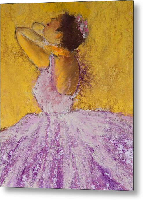 Pastel Metal Print featuring the painting The Ballet Dancer by David Patterson