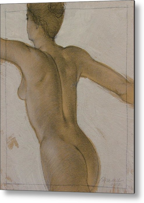 Female Figure Metal Print featuring the painting The Dancer by Gary Kaemmer