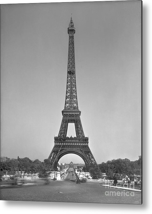 The Metal Print featuring the photograph The Eiffel Tower by Gustave Eiffel