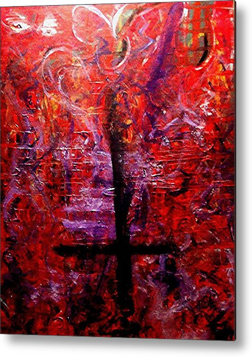 God Metal Print featuring the painting The Fallen Christian by Richard Hubal