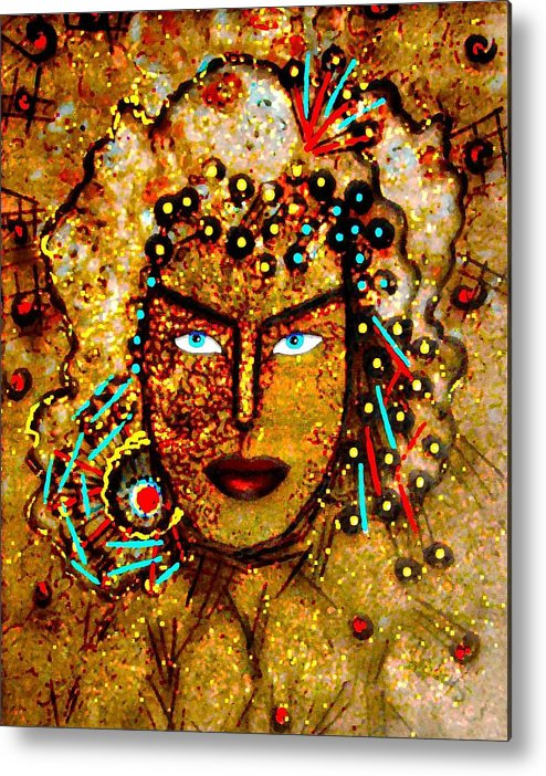Goddess Metal Print featuring the painting The Golden Goddess by Natalie Holland
