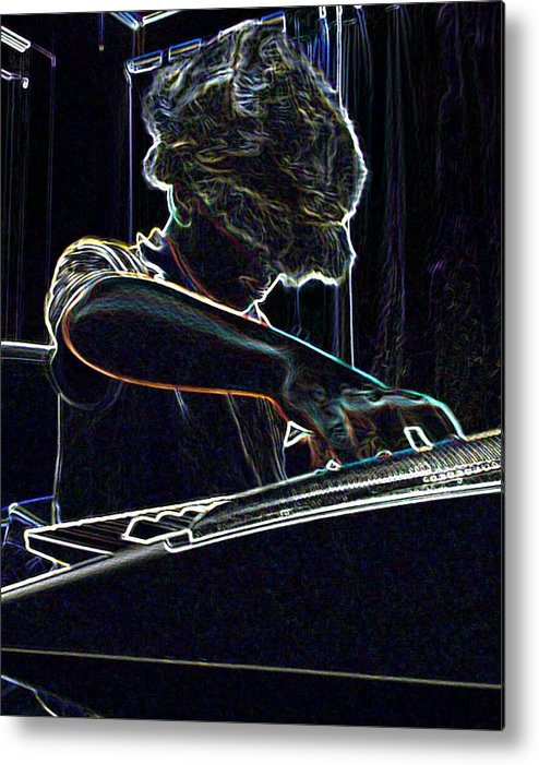 Music Metal Print featuring the photograph The Jammin Oop Man Jack by Scarlett Royal