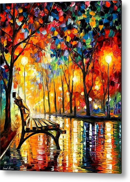 Afremov Metal Print featuring the painting The Loneliness Of Autumn by Leonid Afremov