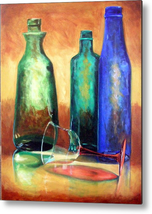 Oil Metal Print featuring the painting The Party's Over by Linda Hiller