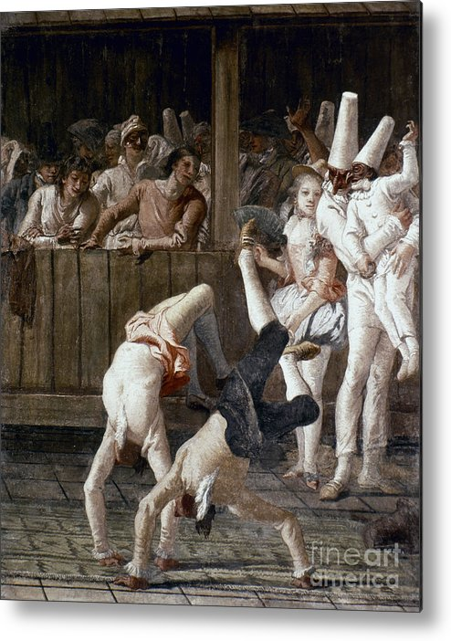 18th Century Metal Print featuring the photograph Tiepolo: Acrobats, 18th C by Granger