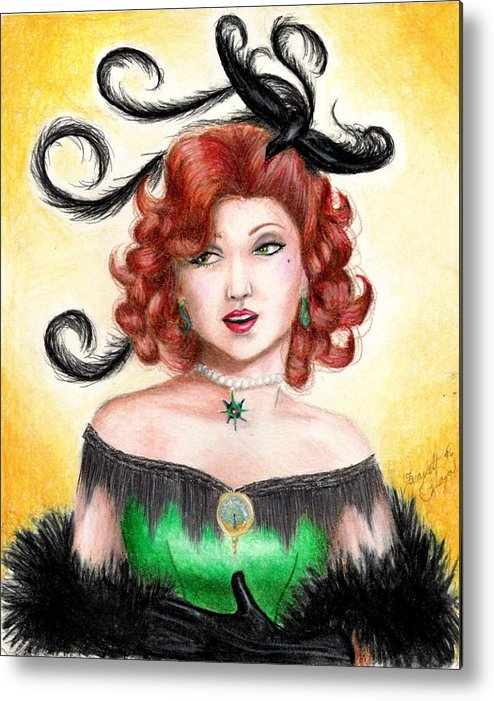 Saloon Metal Print featuring the drawing Tonya by Scarlett Royal