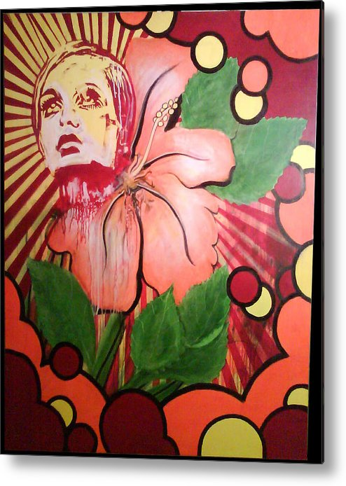 Twiggy Metal Print featuring the painting Twiggy by Stephen Barry