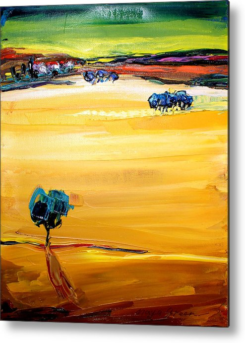 Artwork Metal Print featuring the painting Village by Maya Green