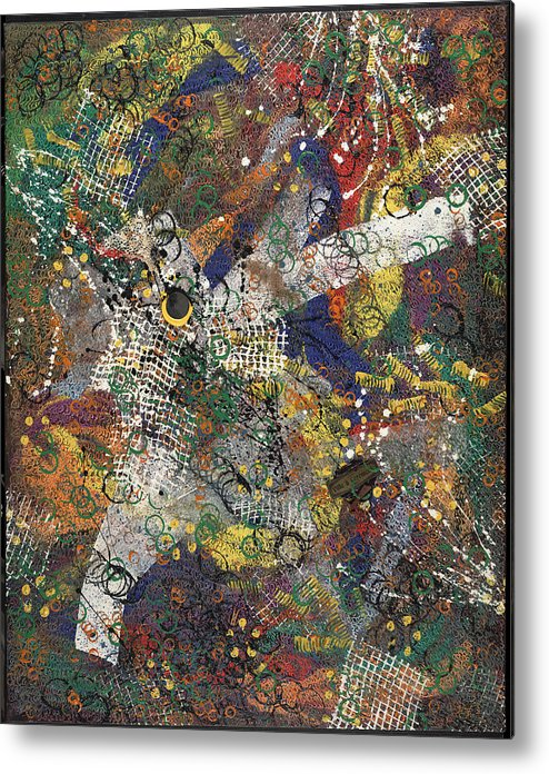 Abstract Metal Print featuring the painting Ville Et Ceremonie by Dominique Boutaud