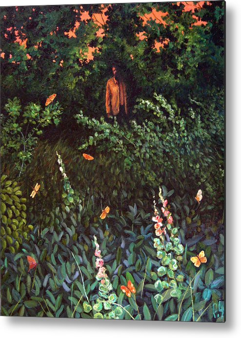 Metal Print featuring the painting Visitor by Paul Sierra