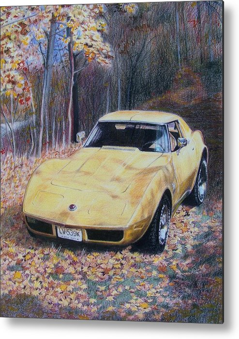 Car Metal Print featuring the mixed media Vrooom by Constance Drescher
