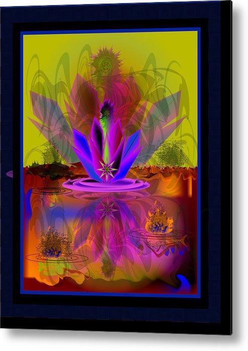 Metal Print featuring the digital art Waterplant2 by George Pasini