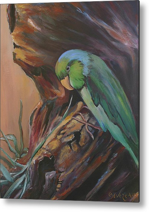 Bird Metal Print featuring the painting Wigi by Cher Devereaux