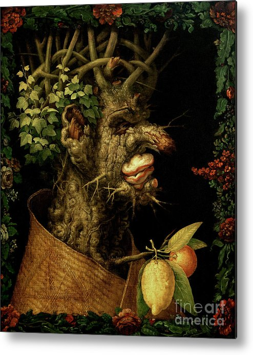 Winter Metal Print featuring the painting Winter by Giuseppe Arcimboldo