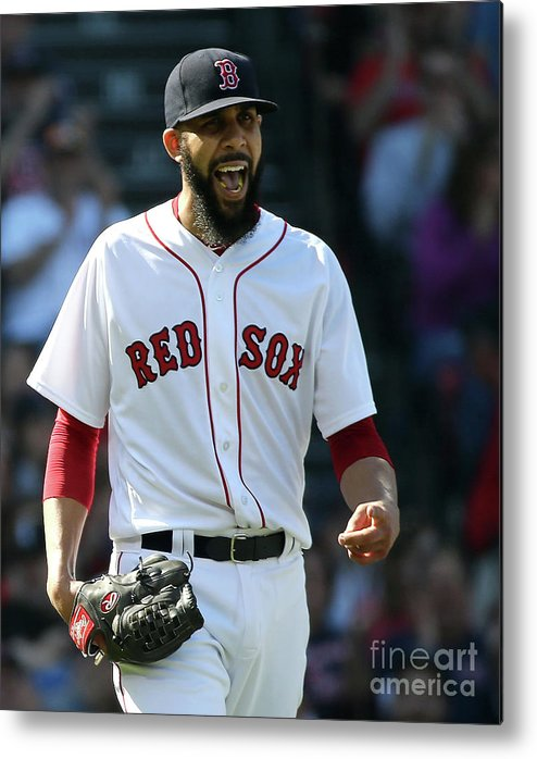 David Price Metal Print featuring the photograph Tampa Bay Rays V Boston Red Sox 5 by Jim Rogash