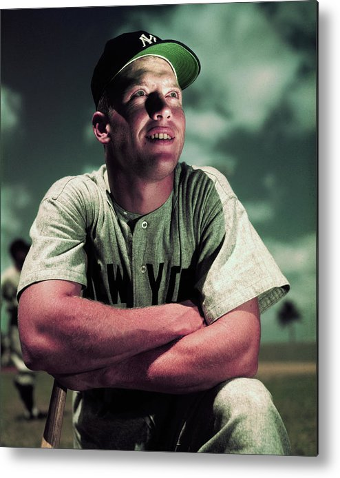 People Metal Print featuring the photograph Baseball Player Mickey Mantle by Bettmann
