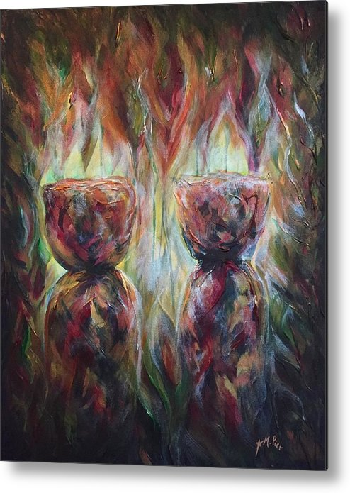 Guam Metal Print featuring the painting Twin Latte Stones by Michelle Pier