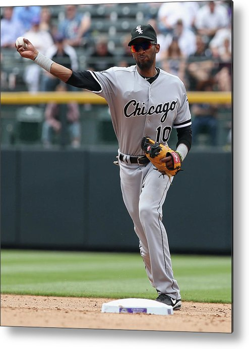 American League Baseball Metal Print featuring the photograph Alexei Ramirez by Doug Pensinger