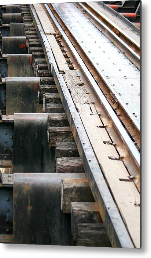 Abstract Metal Print featuring the photograph Railway To Somewhere by Attsit Hirunsatchalert