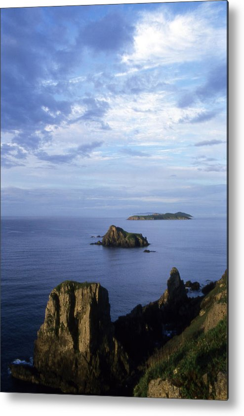 Landscape; Nature; Summer; Land; Reef; Rocks; Evening; Overcast; Cloudiness; World Herritage Sites; Reserve; National Park Metal Print featuring the photograph Russian Far East by Anonymous