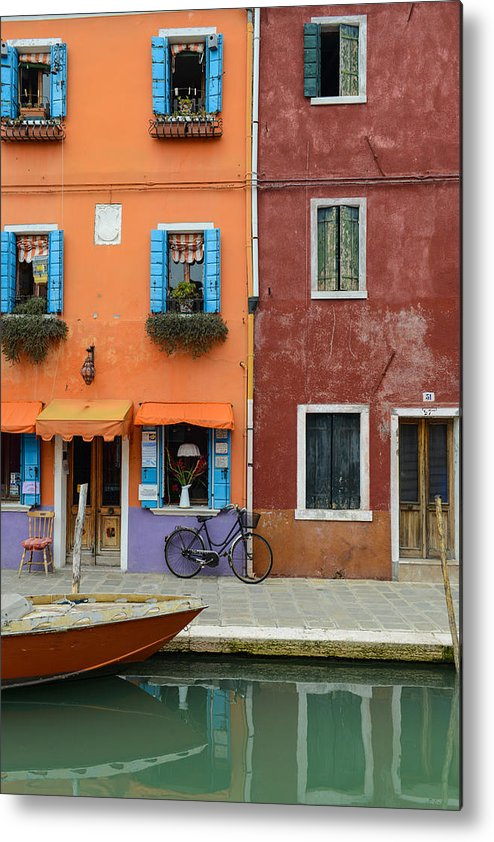 Ancient Metal Print featuring the photograph Burano Italy by Brandon Bourdages