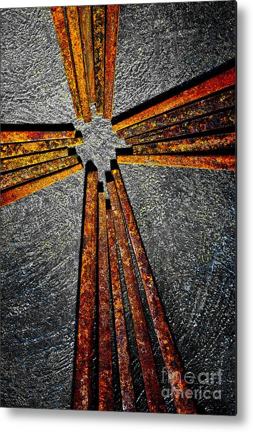 Cross Metal Print featuring the photograph Cross Of Nails by Pattie Calfy
