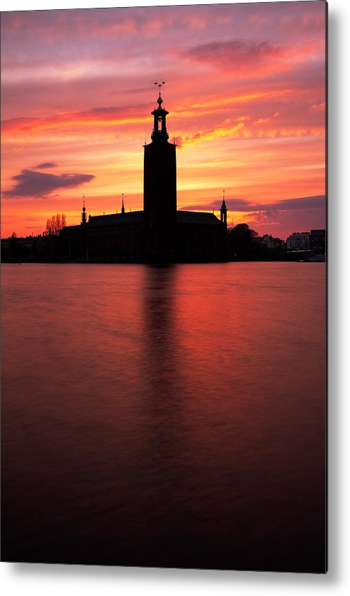 Stockholm Metal Print featuring the photograph Fire In The Sky by Viacheslav Savitskiy