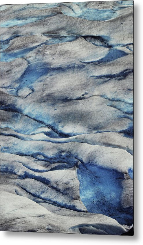 Home Decor Metal Print featuring the photograph Glacial Ice by Jeff Leland