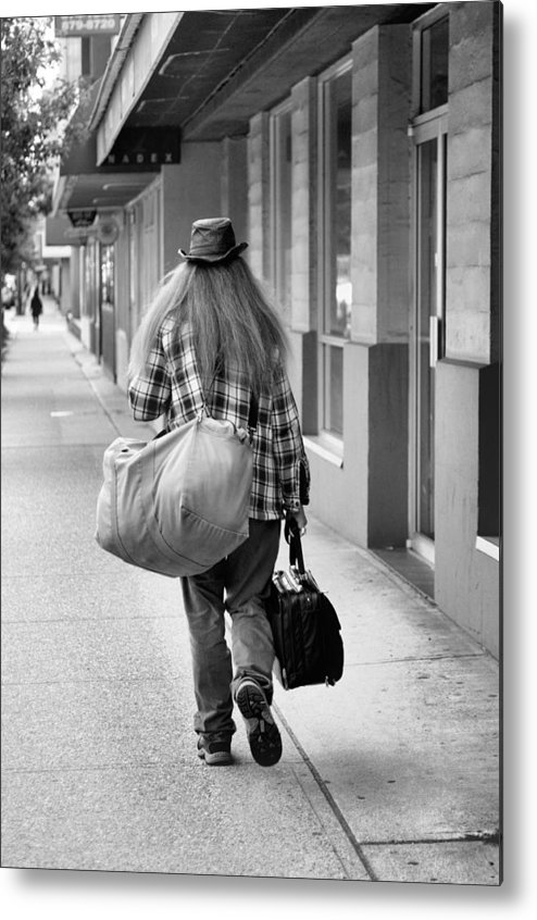Long Hair Metal Print featuring the photograph Going Down The Road by Douglas Pike