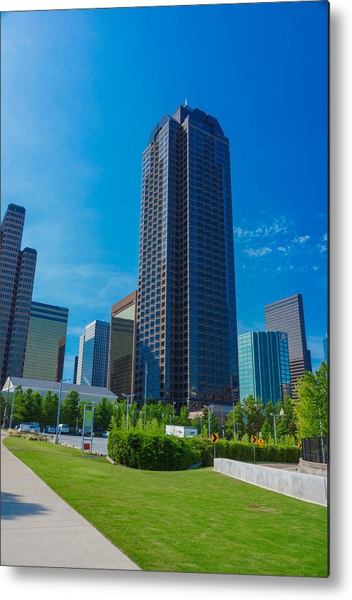 Landscapes Metal Print featuring the photograph Landmark Buildings by Tinjoe Mbugus