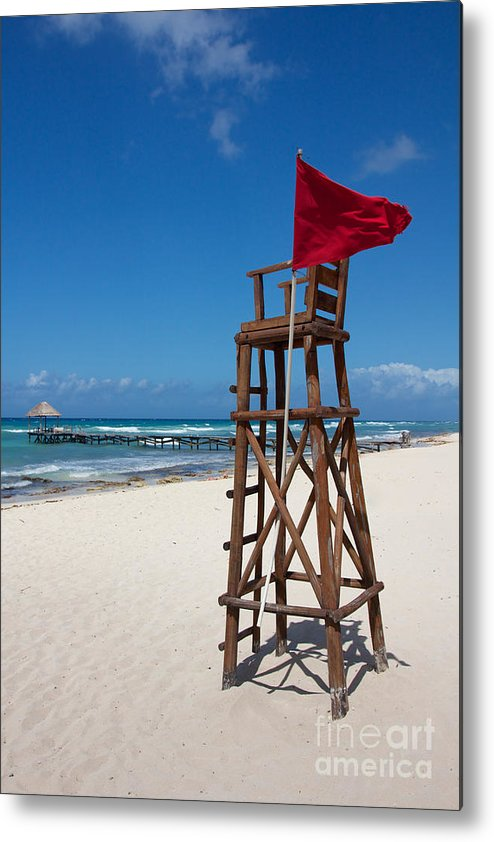 Abandoned Metal Print featuring the photograph Lifeguard by Jannis Werner