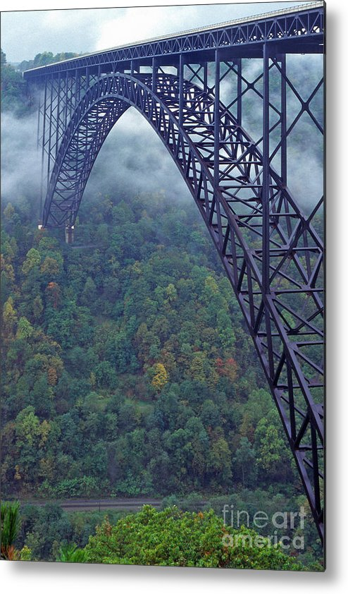 West Virginia Metal Print featuring the photograph New River Gorge Bridge by Thomas R Fletcher