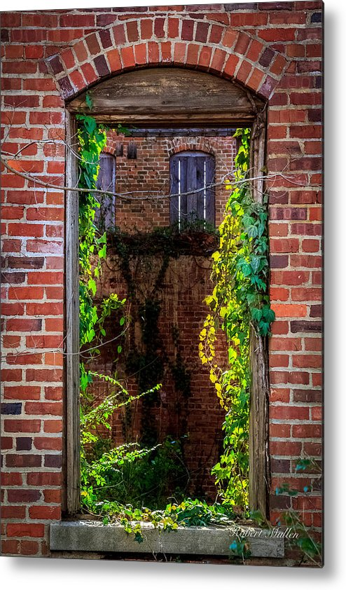 Bricks Metal Print featuring the photograph Picture Window by Robert Mullen