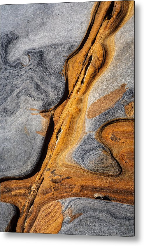 Copyrighted Metal Print featuring the photograph Point Lobos Abstract 4 by Mike Penney