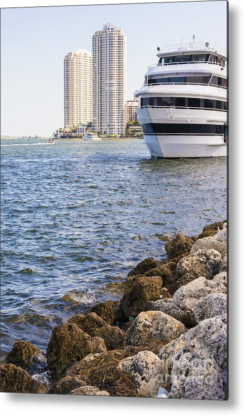 Port Metal Print featuring the photograph Port Of Miami by Andre Babiak