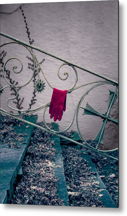 Glove Metal Print featuring the photograph Red Glove by Joana Kruse