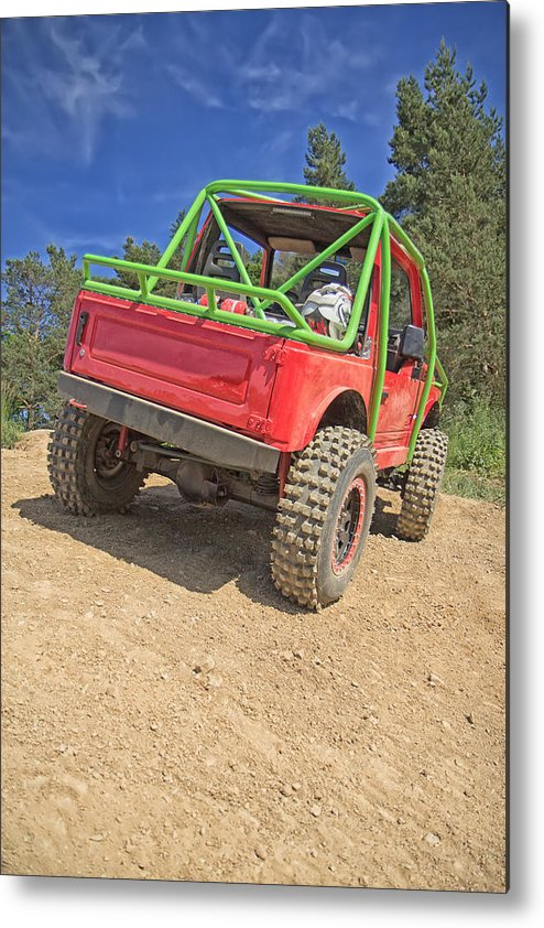 Race Metal Print featuring the photograph Red Off Road Car by Jaroslav Frank