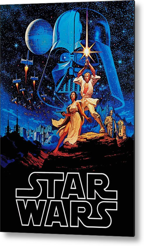 Star Metal Print featuring the drawing Star Wars by Farhad Tamim