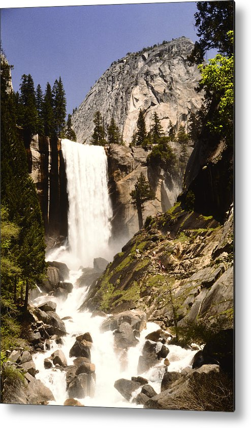 Home Decor Metal Print featuring the photograph The Mist Trail by Jeff Leland