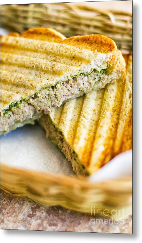 Toast Metal Print featuring the photograph Toasted Tuna Sandwiches For American Breakfast by Tuimages