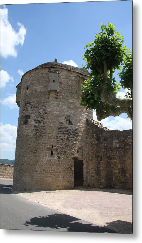 Watch Tower Metal Print featuring the photograph Watch Tower In Cluny by Christiane Schulze Art And Photography