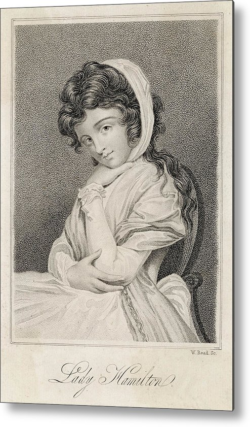 Emma Metal Print featuring the drawing Emma, Lady Hamilton Wife Of Lord by Mary Evans Picture Library